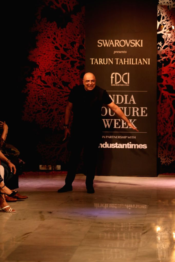 Fashion designer Tarun Tahiliani at the India Couture Week 2019 in New Delhi, on July 28, 2019.