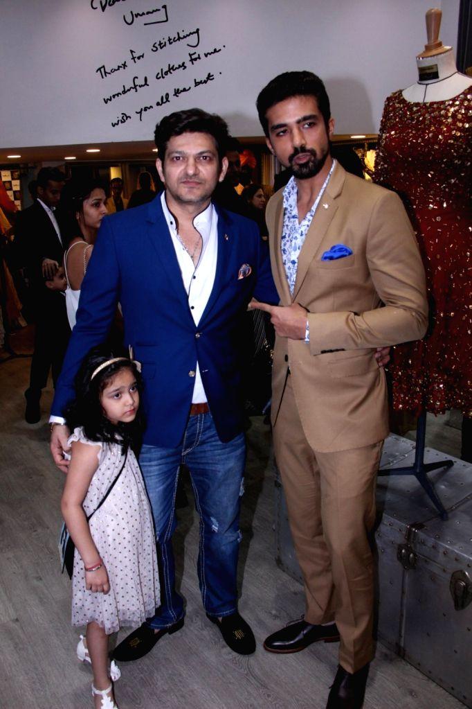 Fashion designer Umang Mehta and actor Saqib Saleem during the launch of fashion designer Tanzila Antulay's debut collection at Umang Mehta store in Mumbai on Oct. 6, 2016. - Saqib Saleem and Umang Mehta