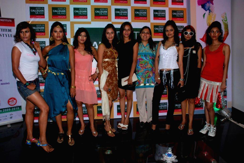Fashion event at Institut Callegari with Sana and Anila in Mumbai.