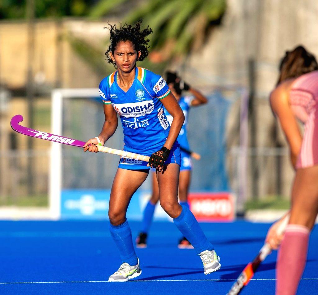 "Felt really good to be back on the field,"" says Indian Women's Team forward Navjot Kaur (PIC:HOCKEY INDIA) - Navjot Kaur"