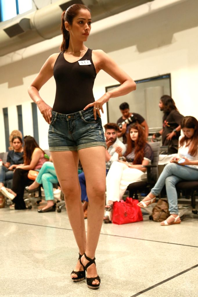 Female model participate in the auditions for India Couture Week 2016, in New Delhi on July 01,2016.