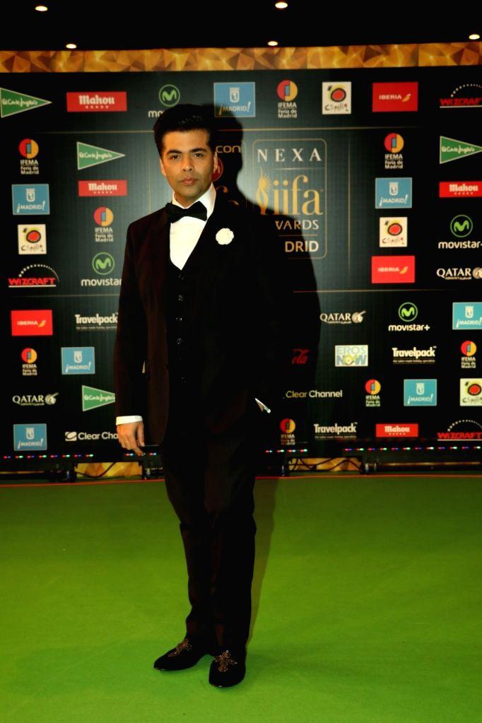 Ffilm director Karan Johar during IIFA Awards in Madrid on June 26, 2016. - Karan Johar