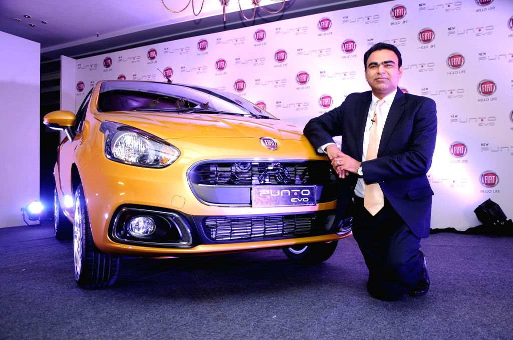 FIAT Chrysler India,  President and Managing Director,  Nagesh Basavanhalli during a press conference to launch  Punto Evo in Bangalore on Aug 8, 2014.