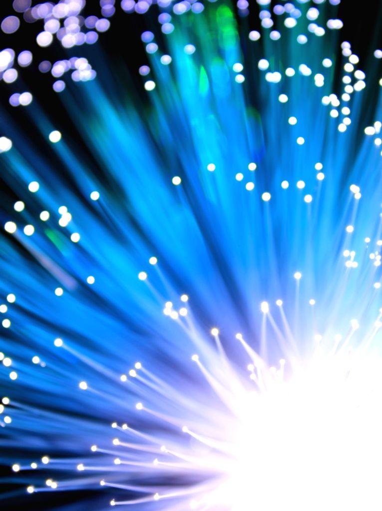 Fiber optics.