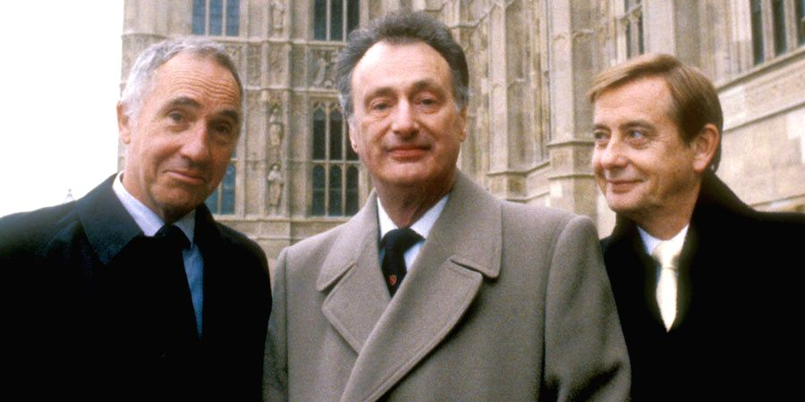 """Fictional British minister Jim Hacker (middle) in popular 1980s British TV  sitcom """"Yes Minister"""" and """"Yes Prime Minister"""" and his department's Permanent Secretary, Sir Humphrey Appleby (left) did ... - Jim Hacker"""