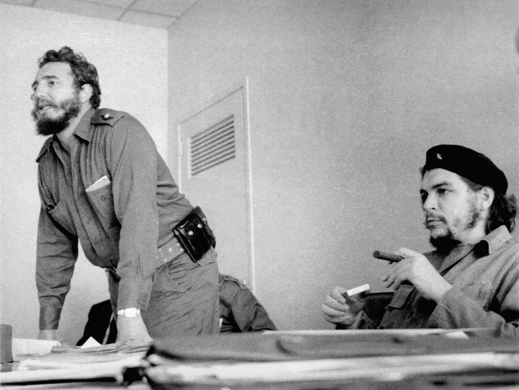 Fidel Castro with his charismatic associate, Che Guevara