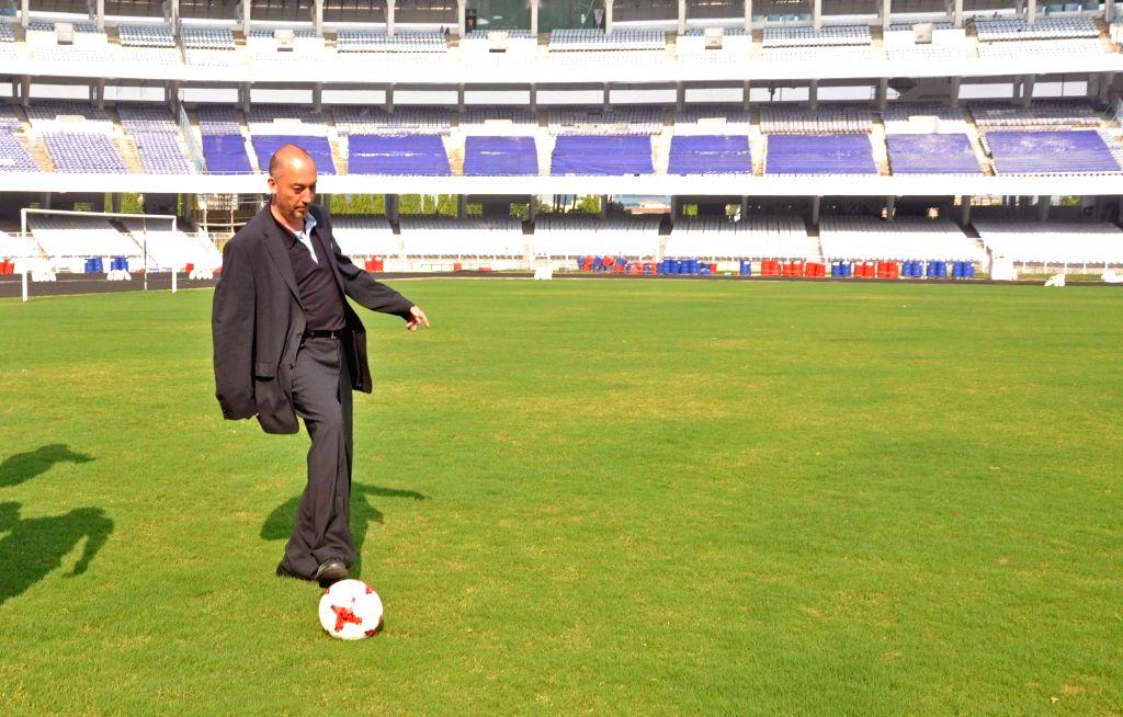 FIFA Head of Tournaments U-17 World Cup Jaime Yarza at Vivekananda Yuba Bharati Krirangan Stadium in Kolkata on March 27, 2017.