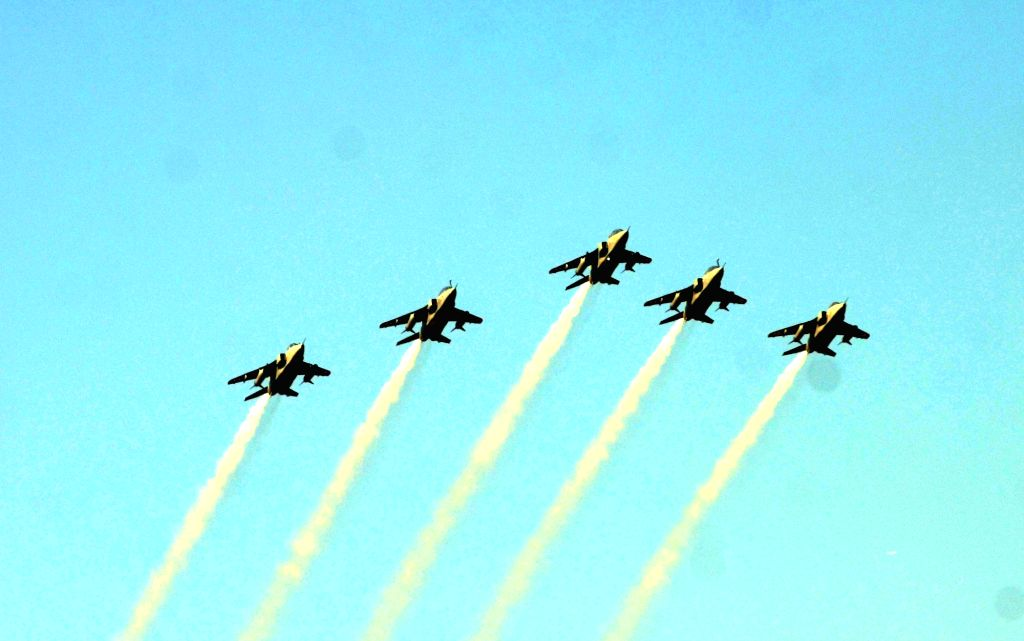Fighter planes of the Indian Air Force (IAF) flying past during 2019 Republic Day Parade in New Delhi, on Jan 26, 2019.