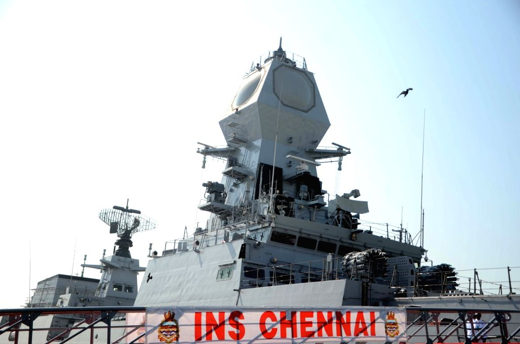File Photo: INS Chennai, a guided missile destroyer. (File Photo: IANS)
