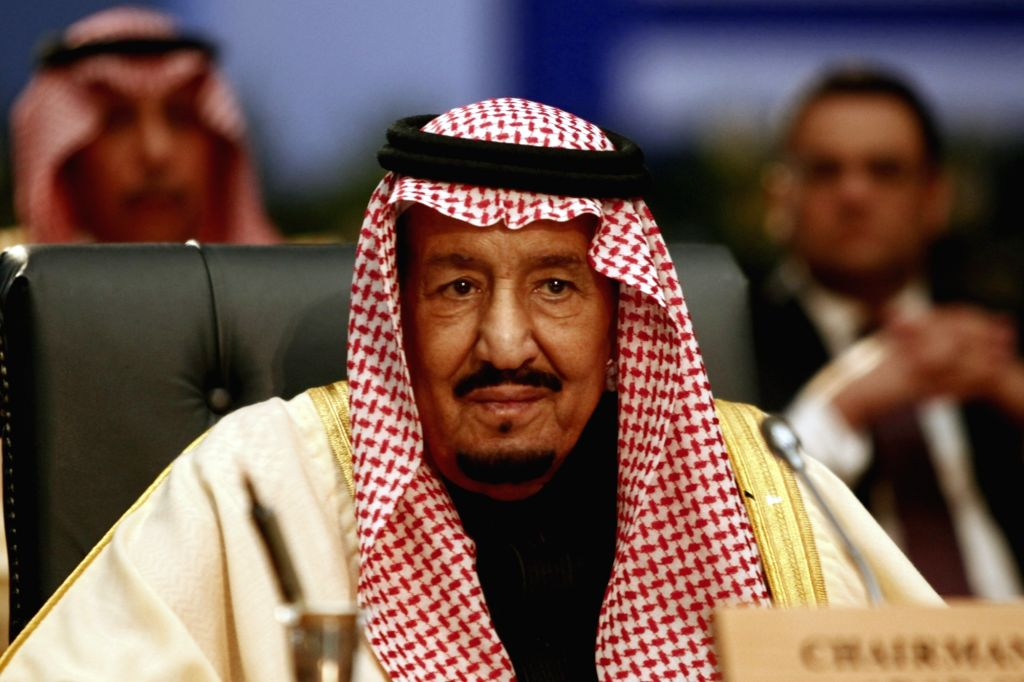 File photo of Saudi King Salman bin Abdulaziz Al Saud who attended the first League of Arab States (LAS)-EU Summit in Sharm el-Sheikh, Egypt, on Feb. 24, 2019.