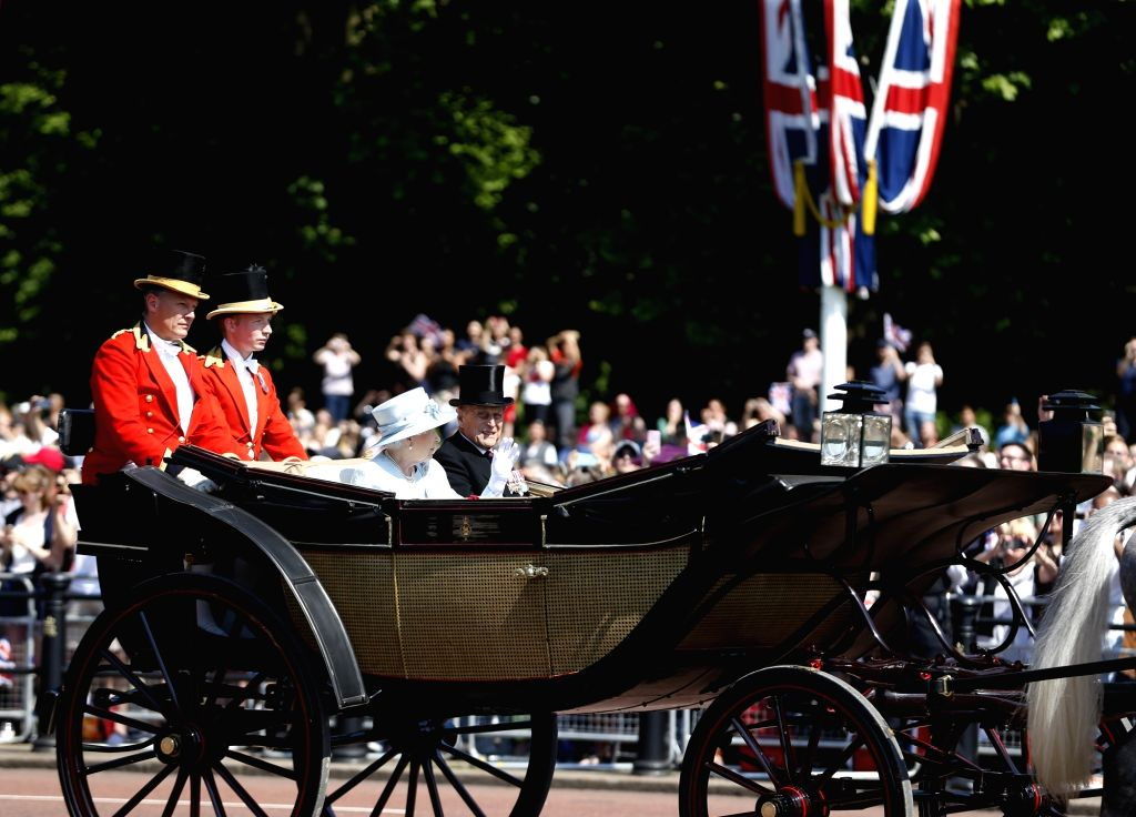 File photo the Duke of Edinburgh at Trooping the Colour 2017 to celebrate the Queen Elizabeth II's 91st birthday in London, Britain. The Duke of Edinburgh, husband of Queen Elizabeth II, was ...