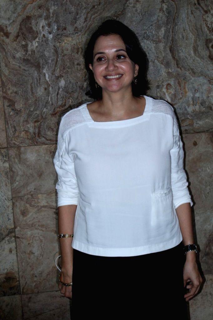 Film critic Anupama Chopra during the screening of making of film Dangal in Mumbai, on Nov 28, 2016. - Anupama Chopra