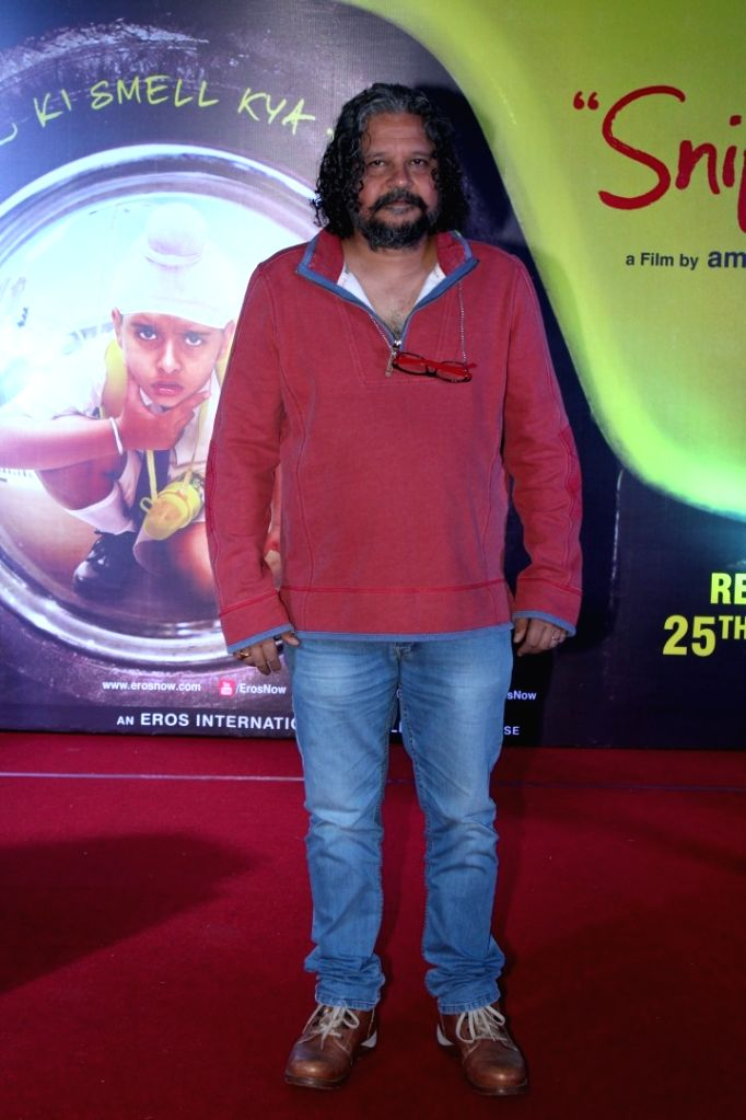 """Film director Amole Gupte during the song launch """"Naak"""" of his upcoming film""""Sniff"""" in Mumbai on Aug 3, 2017. - Amole Gupte"""