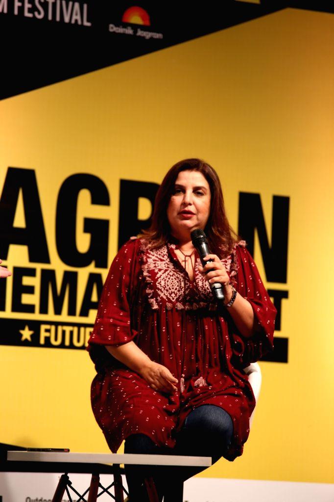 Film director Farah Khan at the inauguration of 10th Jagran Film Festival (JFF) in New Delhi on July 18, 2019. - Farah Khan
