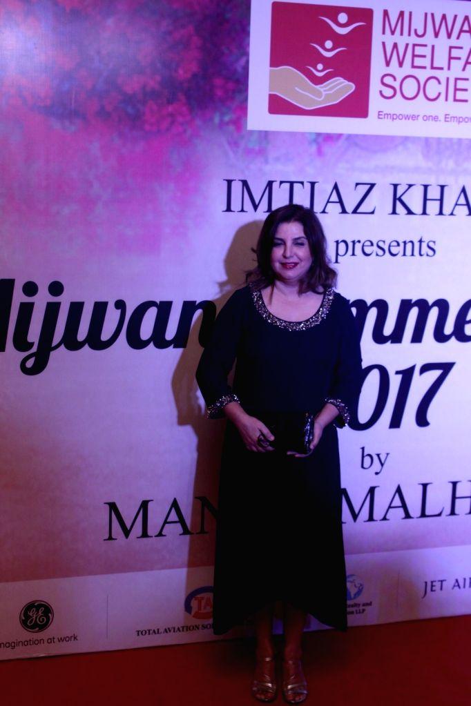 Film Director Farah Khan during the Mijwan Summer 2017 fashion show during the Mijwan Summer 2017 fashion show in Mumbai on March 5, 2017. - Farah Khan