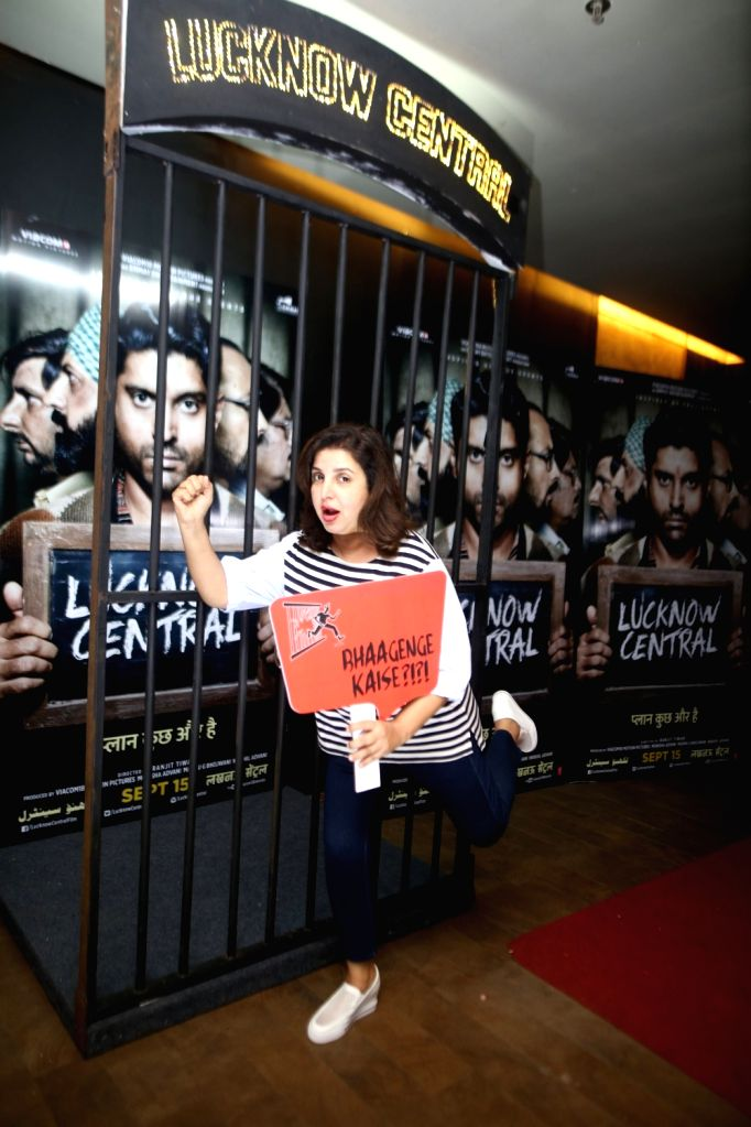 """Film director Farah Khan during the special screening of upcoming film """"Lucknow Central"""" in Mumbai on Sept 10, 2017 - Farah Khan"""