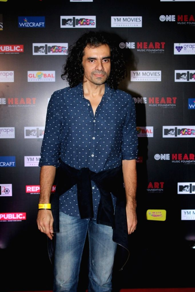 """Film Director Imtiaz Ali during the premiere of Music Maestro A.R. Rahman """"One Heart - A Concert Film"""" in Mumbai on Sept 7, 2017."""