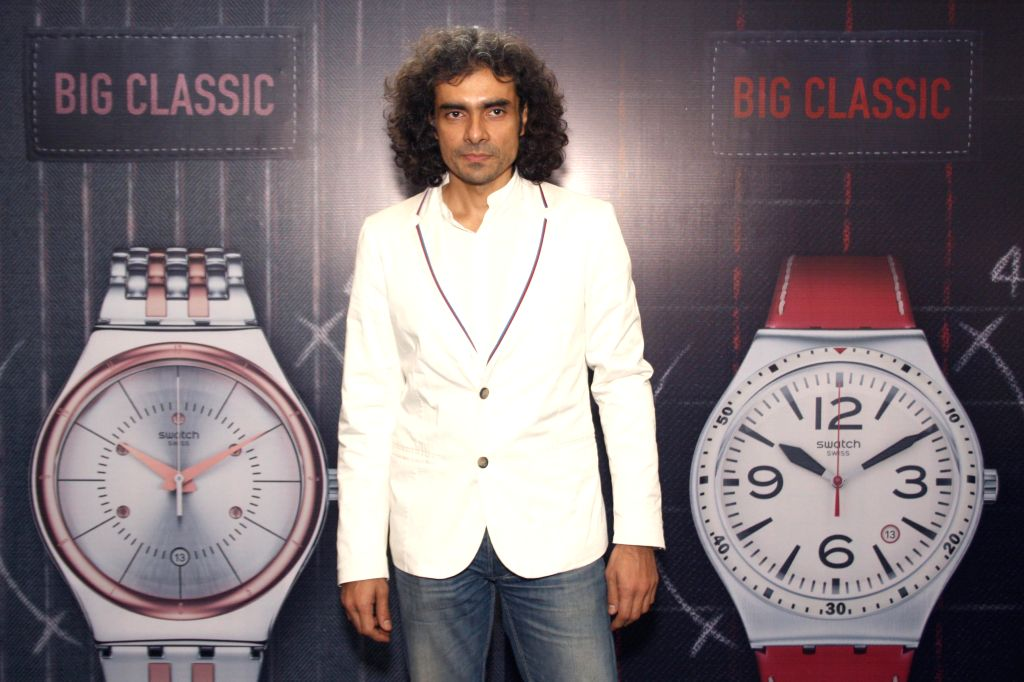 Film Director Imtiaz Ali during the unveiling of big classic collection of Swatch watches, in New Delhi on April 17, 2014.