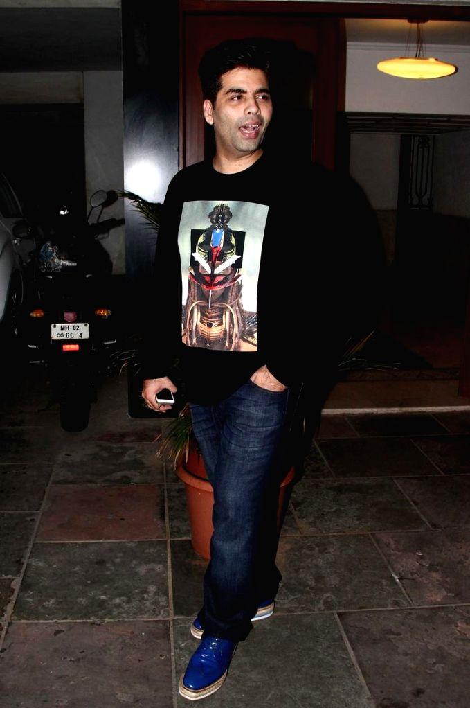 Film director Karan Johar at Sidharth Malhotra hosted party for Ek Villain success at his residence in Mumbai on June 28, 2014. - Karan Johar
