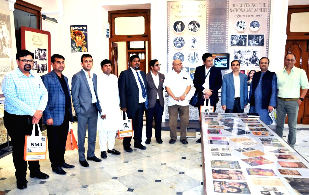 Film Director Shyam Benegal with a delegation of Members of Parliament from Bangladesh during their visit to National Museum of Indian Cinema in Mumbai, on March 15, 2019. - Shyam Benegal