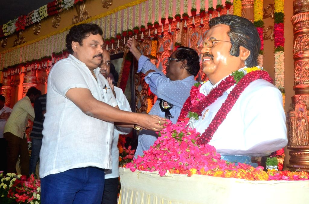 Film producer B.A. Raju pay tribute to late filmmaker Dasari Narayana Rao during a programme in Hyderabad on June 11, 2017.He passed away on 30th May 2017. - Dasari Narayana Rao