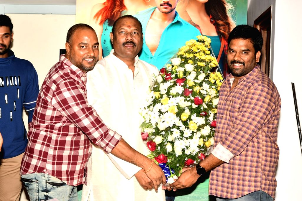 Film producer Bellamkonda Suresh during his birthday celebrations in Hyderabad on Dec 5, 2018.