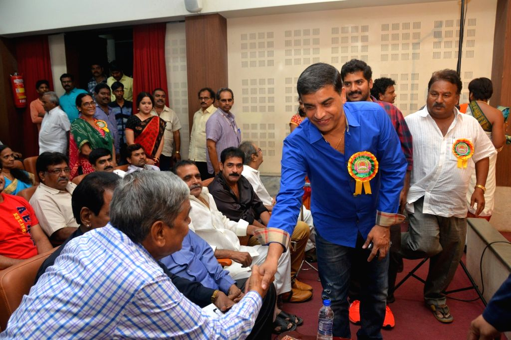 Film producer Dil Raju during a programme in Hyderabad.
