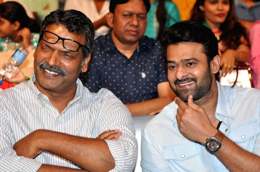 "Film producer Shyamprasad Reddy and actor Prabhas stills from Telugu film ""Anando Brahma"" in Hyderabad. - Prabhas and Shyamprasad Reddy"