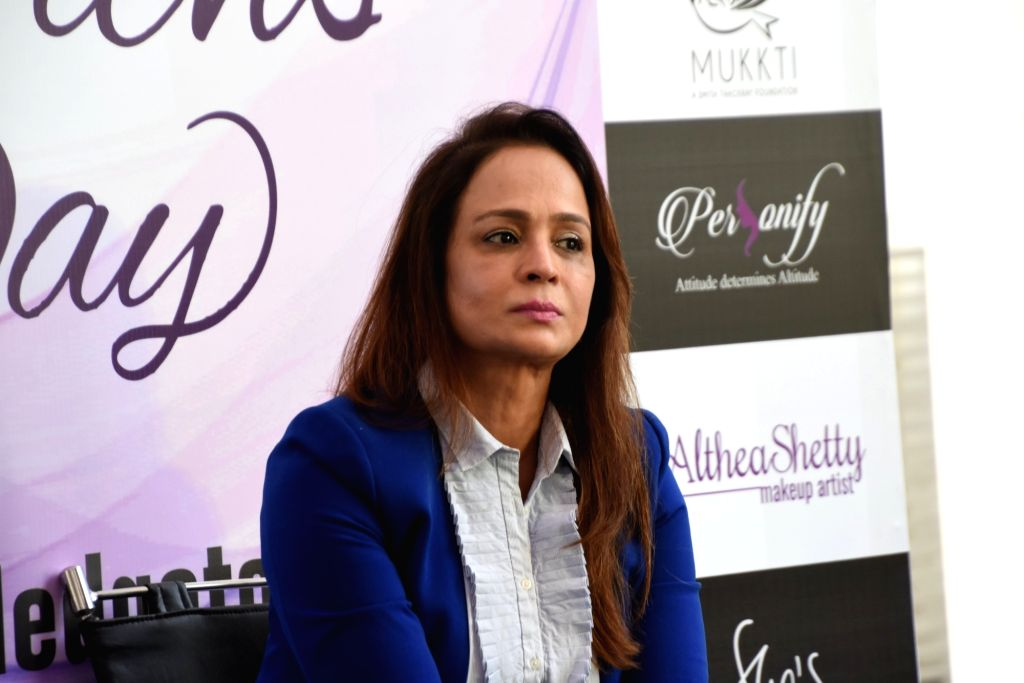 Film producer Smita Thackeray during a programme organised on Women's Day in Mumbai, on March 9, 2019.