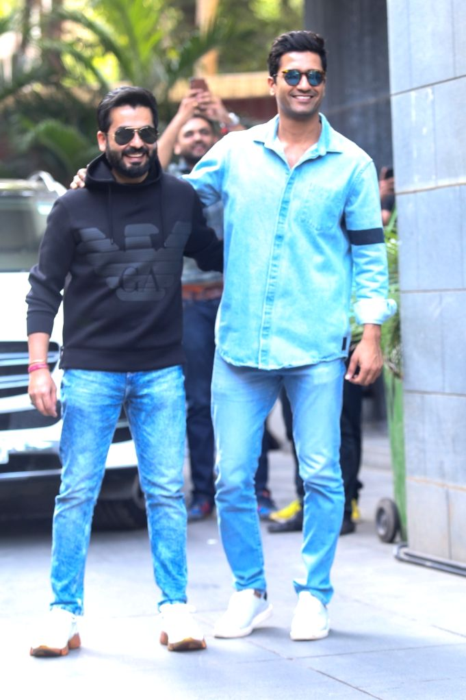 "Film ""Uri: The Surgical Strike"" director Aditya Dhar and the film's lead actor Vicky Kaushal seen at Mumbai's Santacruz on Jan 9, 2020. - Aditya Dhar and Vicky Kaushal"