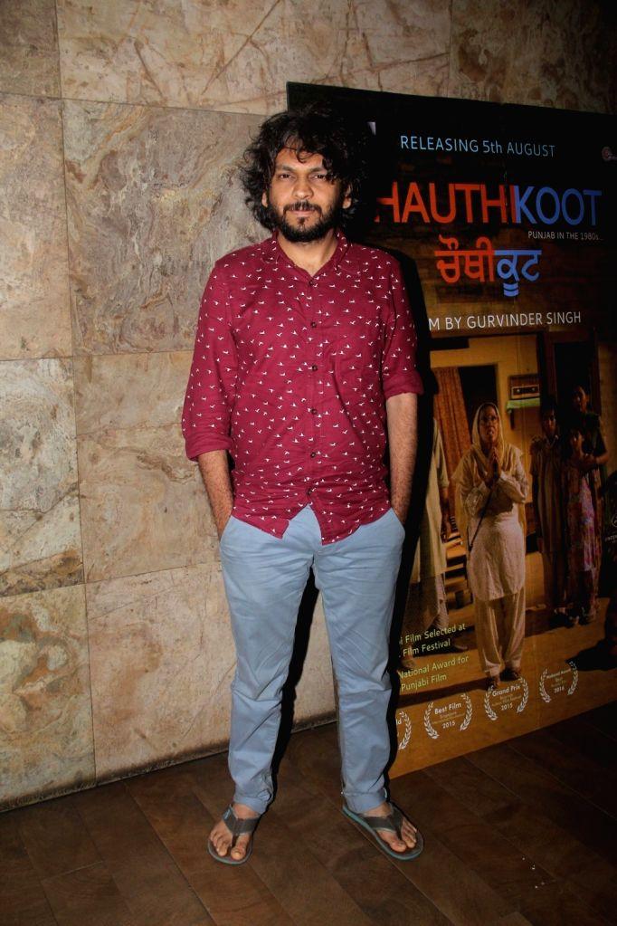 Filmmaker Anand Gandhi during the special screening of Punjabi film Chauthi Koot in Mumbai on Aug 1, 2016. - Anand Gandhi