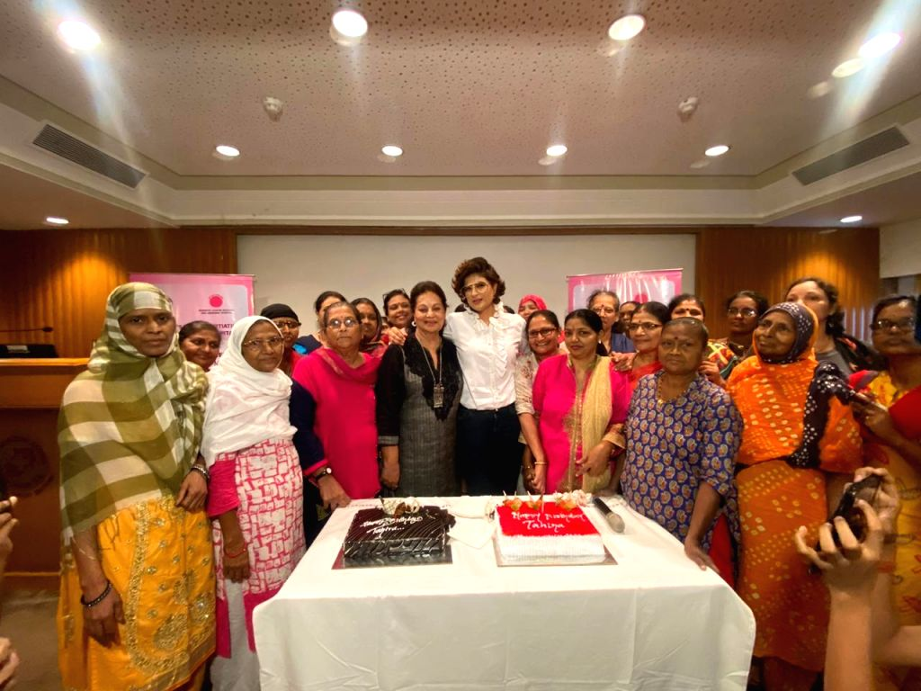 Filmmaker and writer Tahira Kashyap on Thursday met several breast cancer survivors and celebrated her birthday with them. The meet and greet session was held at Tata Memorial Hospital in Mumbai, ... - Tahira Kashyap