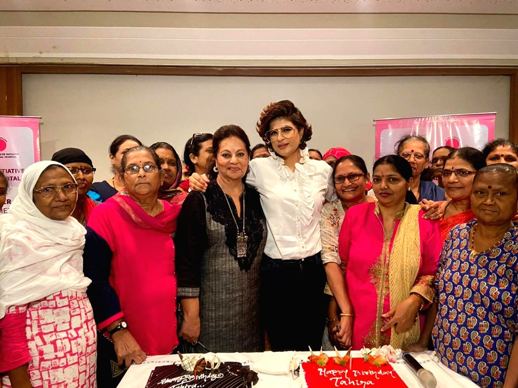 Filmmaker and writer Tahira Kashyap on Thursday met several breast cancer survivors and celebrated her birthday with them. The meet and greet session was held at Tata Memorial Hospital in Mumbai, where Tahira shared the story of her battle with breas - Tahira Kashyap