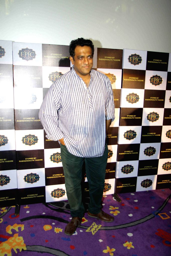 Filmmaker Anurag Basu during the launch of Epic Channel`s show `Stories by Rabindranath Tagore` directed by Anurag Basu, in Mumbai on June 25, 2015. - Anurag Basu
