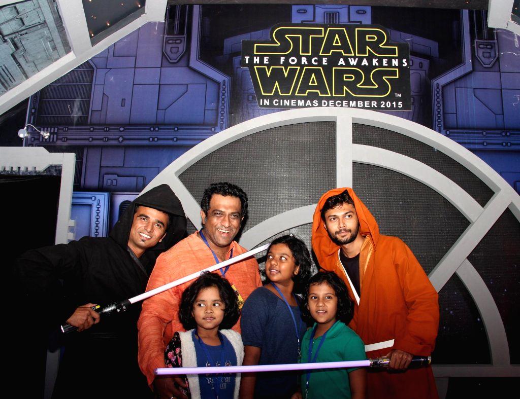 Filmmaker Anurag Basu with children during the Day -2 of  `The Mumbai Film and Comic Con` in Mumbai, on Dec 20, 2014. - Anurag Basu