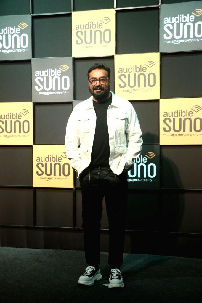 "Filmmaker Anurag Kashyap at the launch of ""Audible Suno"" app in Mumbai on Dec 12, 2019. - Anurag Kashyap"