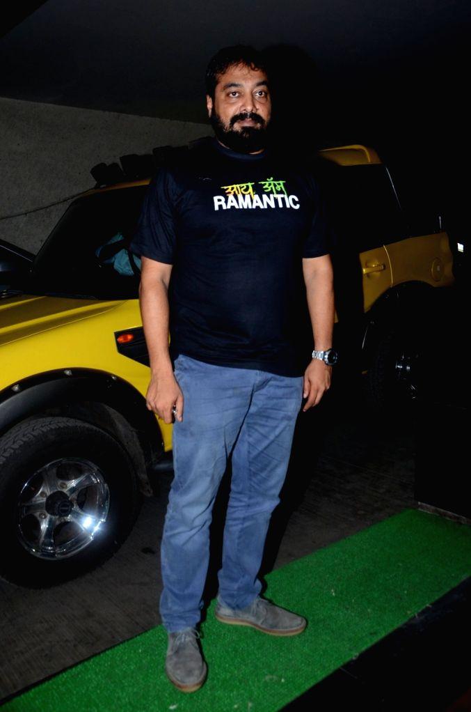 Filmmaker Anurag Kashyap during the special screening of film Raman Raghav 2.0 in Mumbai on June 22, 2016. - Anurag Kashyap