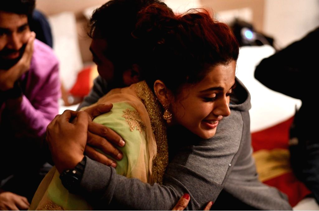 "Filmmaker Anurag Kashyap's modern-day romance drama ""Mamarziyaan"" on Saturday completed a year since release, and the film's lead actors Vicky Kaushal, Taapsee Pannu and Abhishek Bachchan ... - Anurag Kashyap, Vicky Kaushal, Taapsee Pannu and Abhishek Bachchan"