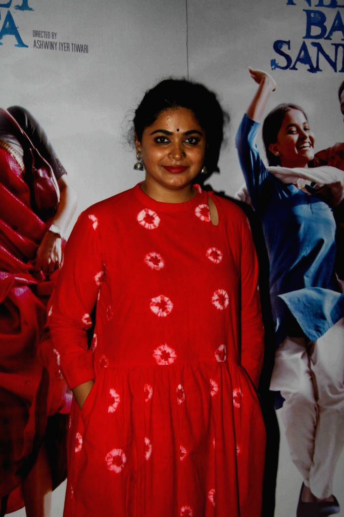 Filmmaker Ashwiny Iyer during the special screening of film Nil Battey Sannata in Mumbai on April 20, 2016. - Ashwiny Iyer