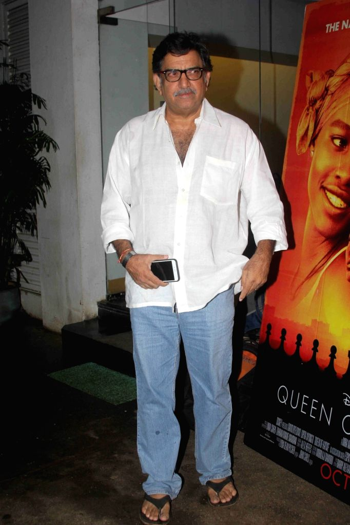 Filmmaker Baba Azmi during the screening of film Queen of Katwe in Mumbai on Oct 5, 2016. - Baba Azmi