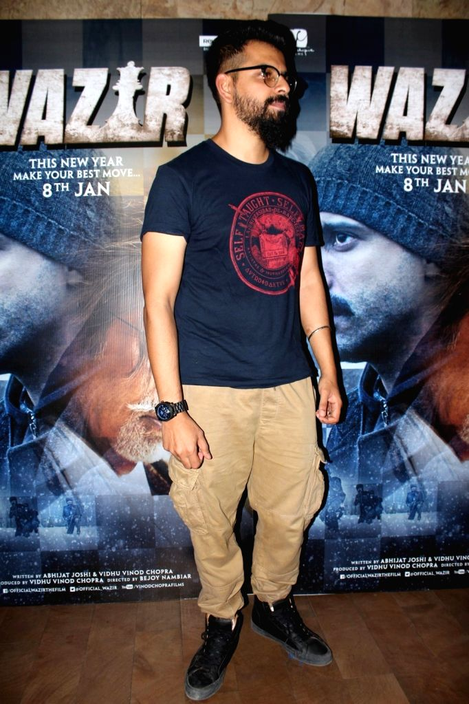 Filmmaker Bejoy Nambiar arrives to watch the first song Tere Bin from film Wazir in Mumbai on Dec 4, 2015. - Bejoy Nambiar
