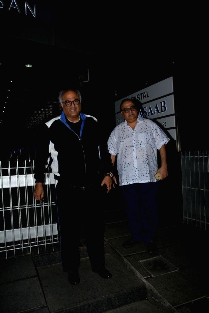 Filmmaker Boney Kapoor at the actress Padmini Kolhapure's birthday party in Mumbai on Nov. 1, 2018. - Boney Kapoor