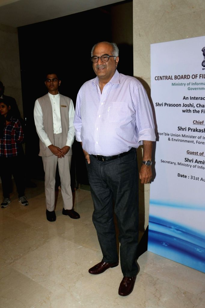 Filmmaker Boney Kapoor during the launch of the new logo and certificate design of Central Board of Film Certification (CBFC) in Mumbai on Sept 1, 2019. - Boney Kapoor