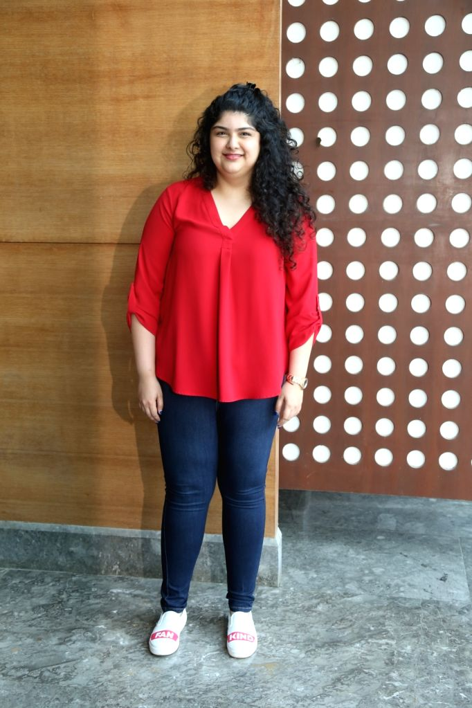 Filmmaker Boney Kapoor's daughter Anshula Kapoor during a programme in Mumbai on Nov 5, 2019. - Boney Kapoo and Anshula Kapoor