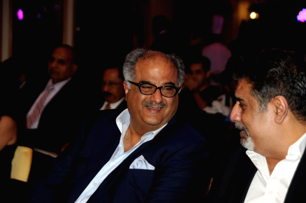 Filmmaker Bonney Kapoor during the launch of ASSOCHAM coffee table book on media and entertainment in Mumbai on Nov 23, 2015. - Bonney Kapoor