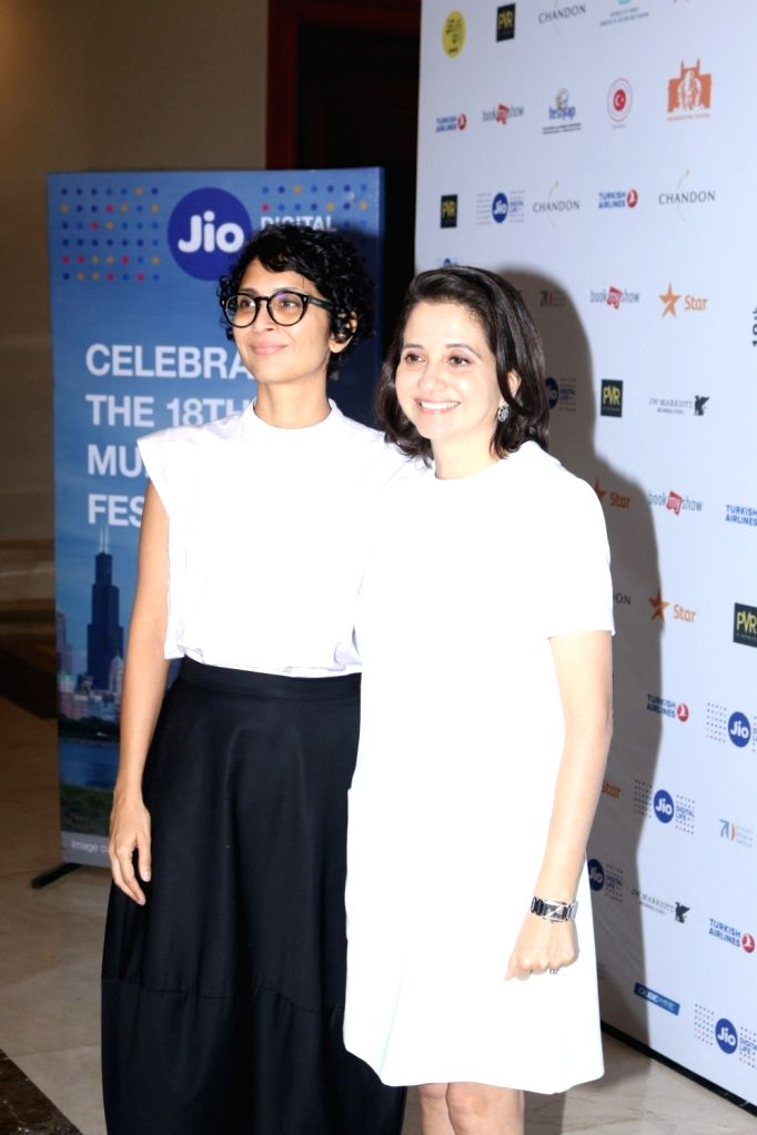 Filmmaker, chairperson, MAMI, Kiran Rao and Anupama Chopra, Director, Jio MAMI Mumbai Film Festival arrive to attend in conversation with publisher and editor Arpita Das (not in picture) at ... - Kiran Rao and Anupama Chopra