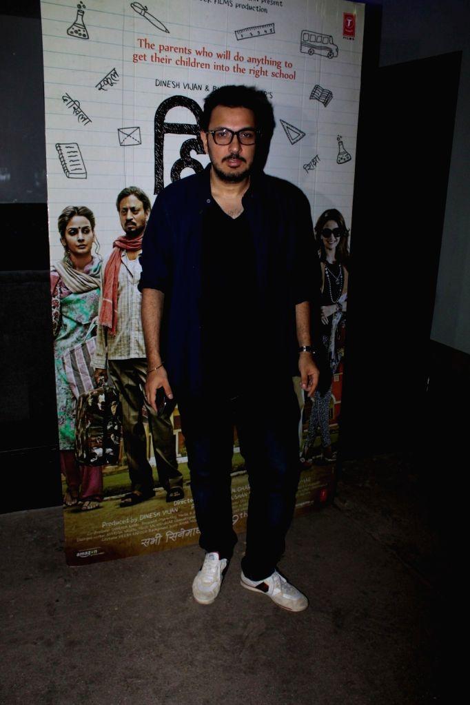 Filmmaker Dinesh Vijan during the screening of the film Hindi Medium in Mumbai on May 16, 2017. - Dinesh Vijan