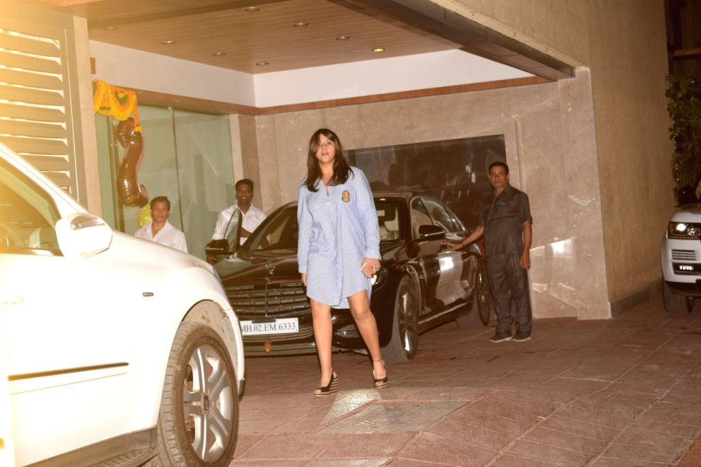 Filmmaker Ekta Kapoor celebrates her nephew Laksshya birthday  in Mumbai on June 1, 2018. - Ekta Kapoor