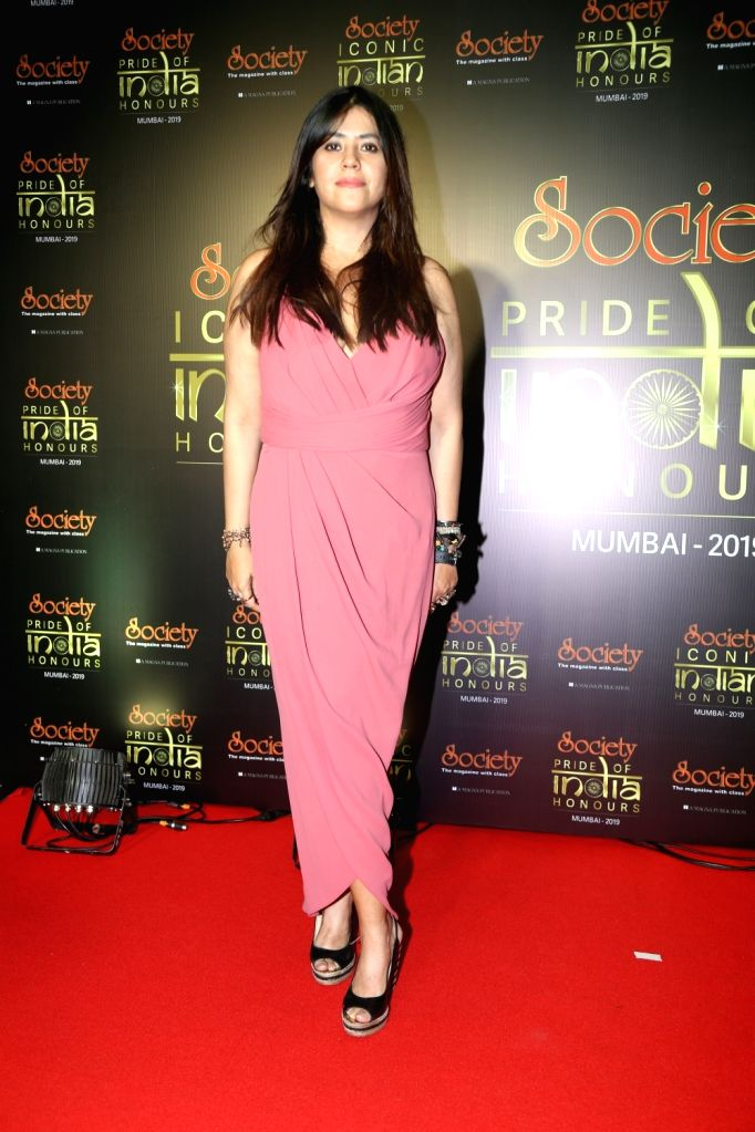 Filmmaker Ekta Kapoor during Society Awards at Taj Santacruz in Mumbai on Nov 16, 2019. - Ekta Kapoor