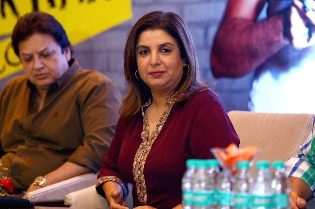 Filmmaker Farah Khan addresses a press conference in Jaipur, on Sept 20, 2016. - Farah Khan